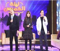 فيديو وصور | مدحت صالح وهشام عباس نجما «ليلة الخميس»