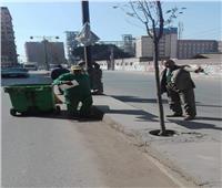 حملة لرفع الإشغالات من شوارع حي غرب شبين الكوم