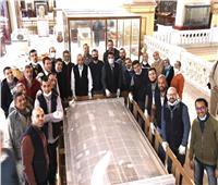 المتحف المصري الكبير يستقبل المقصورة الرابعة لتوت عنخ آمون | صور