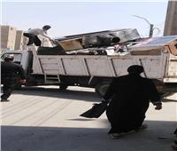 إزالة 349حالة إشغال وتعدي في حملة بمركز بني سويف