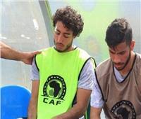 غرز تجميلية لمحمد هاني بعد إصابته في مران الأهلي 