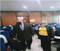 نائب رئيس جامعة السادات يتابع سير الامتحانات بكلية التربية للطفولة.. صور