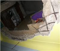 إصابة سيدة في انهيار سقف عقار وسط الإسكندرية
