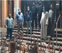 ضبط 27 شيشة وتحرير 42 محضراً في حملة بـ «الأقصر»