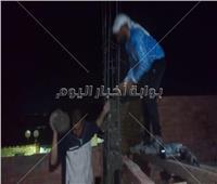 إزالة حالات تعد بالبناء في قرى سمالوط بالمنيا.. صور
