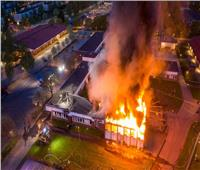 إضرام النيران في مدرسة إسلامية بـ «السويد»
