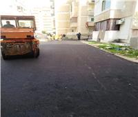 الانتهاء من رصف منطقة المدخل الغربي بمدينة مطروح