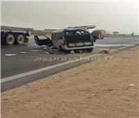 إصابة 4 أشخاص في تصادم سيارتين ميكروباص بالطريق الإقليمي
