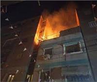إخماد حريق منزل بجوار كنيسة السيدة العذراء بالمنيا