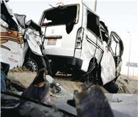 مصرع 4 أشخاص وإصابة 3 في حادث تصادم بأسيوط