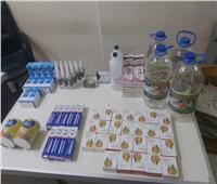 ضبط أدوية مجهولة المصدر ومحظور تداولها في حملة ببني سويف