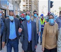 «بتكلفة 20 مليون جنيه»..محافظ الإسكندرية يتابع تطوير شارع مصطفى كامل