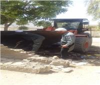 رفع ١٠ أطنان مخلفات ري وقمامة بحي المطار في الأقصر