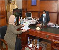 شعيب يلتقى مدير فرع المجلس القومى للسكان