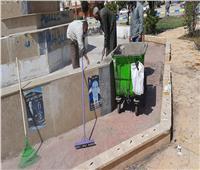 إزالة 130 طن قمامة وطلاء وتجميل ميدان «30 يونيو» بالإسماعيلية