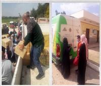 توزيع 200 كرتونة مواد غذائية للأسر الأولى بالرعاية في الإسماعيلية