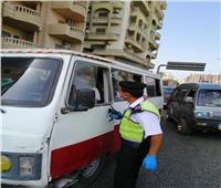 تحرير 989 محضرًا لعدم الالتزام بارتداء الكمامات بالجيزة