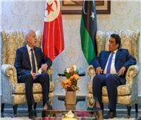 الرئيس التونسي يلتقي المنفي خلال زيارته الرسمية لليبيا