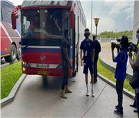 بيراميدز يصل ملعب «بنجامين مكابا»لمواجهة «نامونجو»
