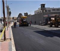 محافظ بورسعيد يتابع سير أعمال تطوير شارع عبد الرحمن شكرى بالضواحى