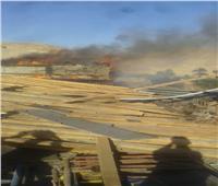 حريق بمشروع محور ديروط والدفع بسيارات الإطفاء والإسعاف لموقع الحريق