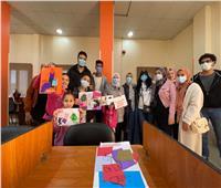 جامعة حلوان تفتتح وحدة الابتكار والإبداع الفني والثقافي بكفر العلو