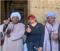 هالة صدقي من معبد حتشبسوت: صباح الخير علىحراس التاريخ