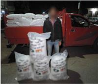القبض على سائق بحوزته 2 طن أسمدة بدون ترخيص بالفيوم