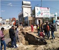 رئيس مدينة قويسنا يتابع توصيل الغاز الطبيعي لمحطات الوقود  صور
