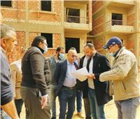 مسؤولو جهاز «أكتوبر الجديدة» يتابعون أعمال تنفيذ 24888 وحدة سكنية