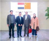 قنصل مصر في شنغهاي يلتقي أبناء الجالية المصرية للاطمئنان على أحوالهم