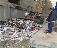 إزالة مخلفات القمامة من إحدى مدارس الغربية  صور