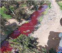 مجري مائي يهدد حياة المواطنين بسبب مجزر «السنطة»