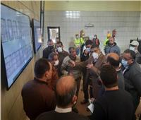 مسئولو جهاز 6 أكتوبر يتفقدون مشروعي مأخذ المياه العكرة ومحطة محولات الكهرباء