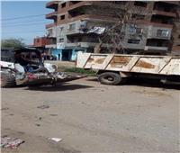 محافظ القليوبية يوجه برفع المخلفات من شوارع كفر شكر