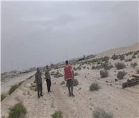 سقوط 7 أعمدة كهرباء بسبب عاصفة ترابية في سيناء