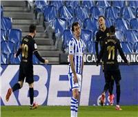 الشوط الأول| برشلونة يتقدم بهدفين على سوسيداد في «الليجا الإسبانية»