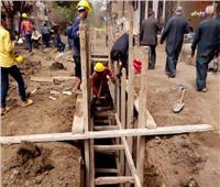 «حياة كريمة» تشق طريقها بقرية «القشيش» في القليوبية | صور