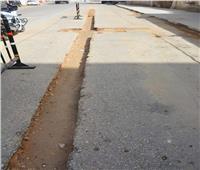 محافظ الوادي الجديد يتفقد أعمال إعادة رصف شوارع الخارجة بعد حفر خطوط الغاز