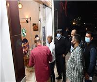 غلق وتشميع 11 مقهى ومطعم لعدم الإلتزام بالإجراءات بالفيوم| صور