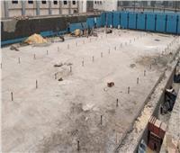 مواصلة أعمال استكمال حمام السباحة التعليمي بالمركز الأولمبي في المعادي