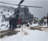 «هليكوبتر ملكي» يستجيب لاستغاثة حامل وينقذها من الثلوج في المغرب