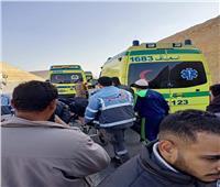 إصابة 4 أشخاص في حادث تصادم 3 سيارات بطريق العدوة شمال محافظة المنيا