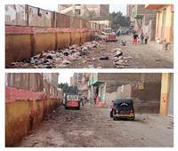 حملات نظافة موسعة في أوسيم بالجيزة | صور