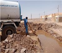 """كسر خط مياه """"وادى كركر"""" بأسوان بعد ساعات من احتفالية اليوم العالمي للمياه"""