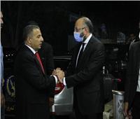 النائب حسام المندوه يتلقى عزاء خاله في الحامدية الشاذلية بحضور قيادات برلمانية