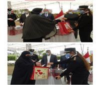 تكريم أمهات و زوجات الشهداء في أندية الشرطة بالمحافظات . صور