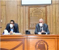 محافظ قنا يتابع أعمال الترفيق الخاصة بالمنطقتين الصناعيتين