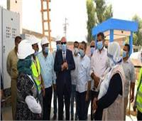 محافظ قنا يتفقد الأعمال النهائية لمحطة معالجة الصرف الصحي بالأشراف