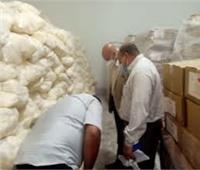 ضبط أغذية مجهولة المصدر ومخالفات تموينية في بني سويف